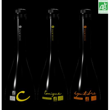 3 bouteilles de 25 cl en coffret