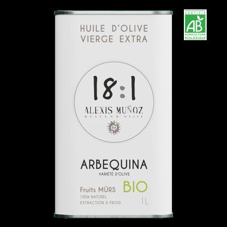 Arbequina, fruits mûrs – 1L