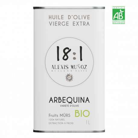 ARBEQUINA, FRUITS MÛRS – 1L